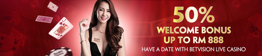 live casino 50% welcome bonus