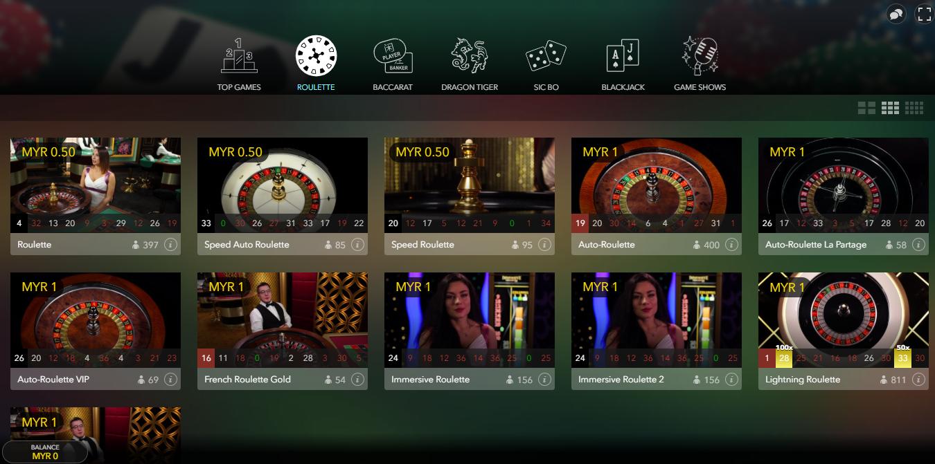 Evolution Gaming Lobby Live Casino Covid-19