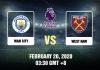 Man City vs West Ham Prediction - 200220