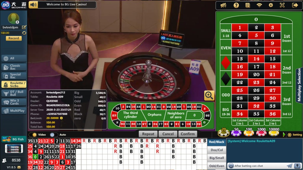 Big Gaming Roulette