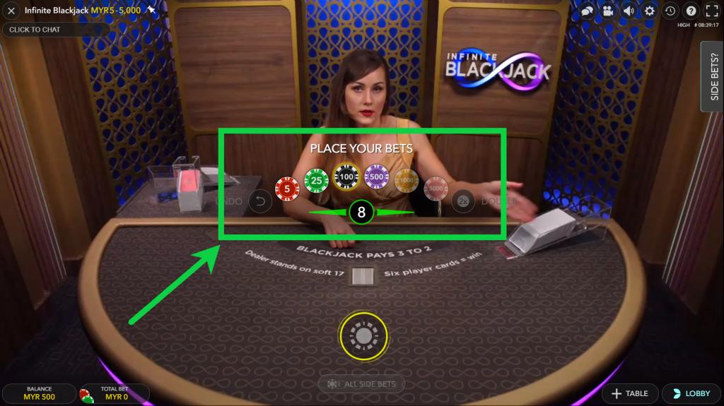 Evolution Gaming Bet Options