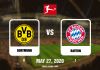 Dortmund vs Bayern Bundesliga - 05272020