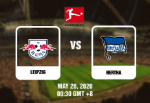 Leipzig vs Hertha - Bundesliga - 05282020