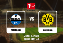 Paderborn vs Dortmund - Bundesliga - 06012020