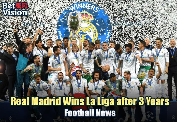 Real Madrid Wins La Liga after 3 Years!