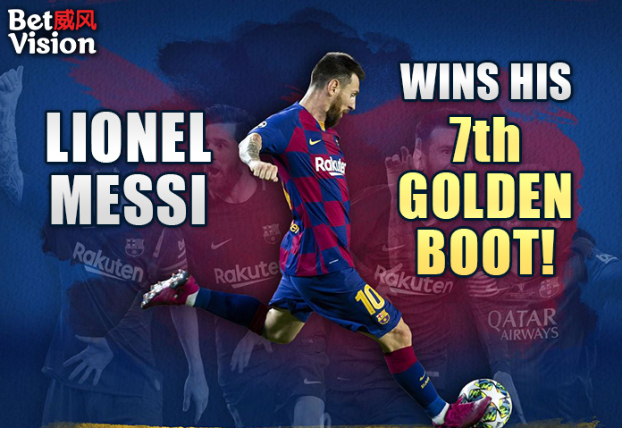 Lionel Messi wins his 7th Golden Boot