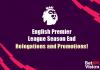 English Premier League Season End - Header