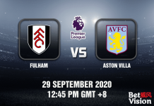 Fulham v Aston Villa Match Prediction - EPL - 29092020