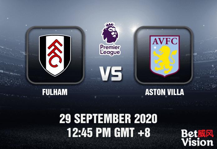 Fulham v Aston Villa Match Prediction - EPL - 29092020