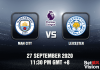 Man City v Leicester Match Prediction - EPL - 270920