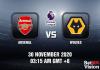Arsenal v Wolves Match Prediction - EPL - 30 Nov 20
