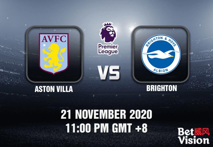 Aston Villa v Brighton Match Prediction - EPL - 21 Nov 20