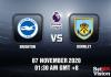 Brighton v Burnley Match Prediction - EPL - 7 November 20