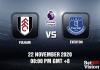Fulham v Everton Match Prediction - EPL - 22 November 2020