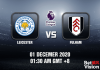 Leicester v Fulham Match Prediction - EPL - 01 Dec 20