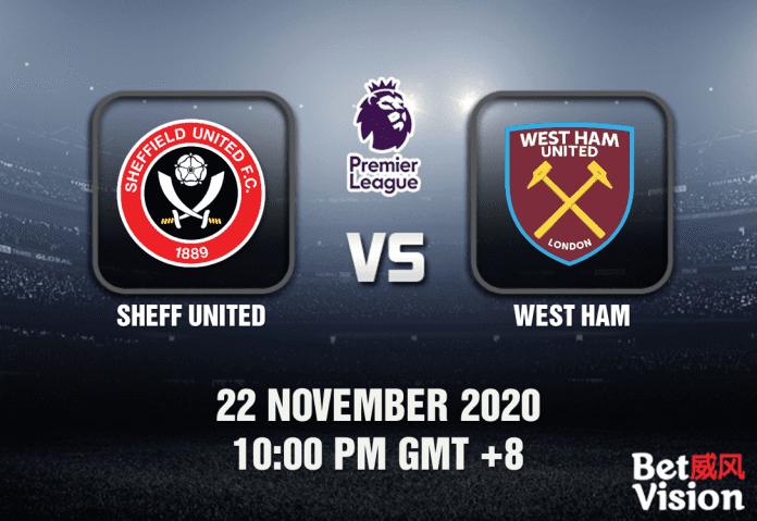 Sheff United v West Ham Match Prediction - EPL - 22 Nov 20