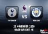 Tottenham v Man City Match Prediction - EPL - 22 Nov 20