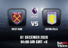 West Ham v Aston Villa Match Prediction - EPL - 01 Dec 20