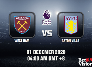 West Ham v Aston Villa Match Prediction - EPL - 01 Dec 20