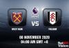 West Ham v Fulham Match Prediction - EPL - 8 November 20