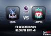 Crystal v Liverpool Prediction - EPL - 19 Dec 20