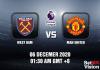 West Ham v Man United Match Prediction - EPL - 6 December 20