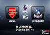 Arsenal v Crystal Prediction - EPL - 15 JAN 21