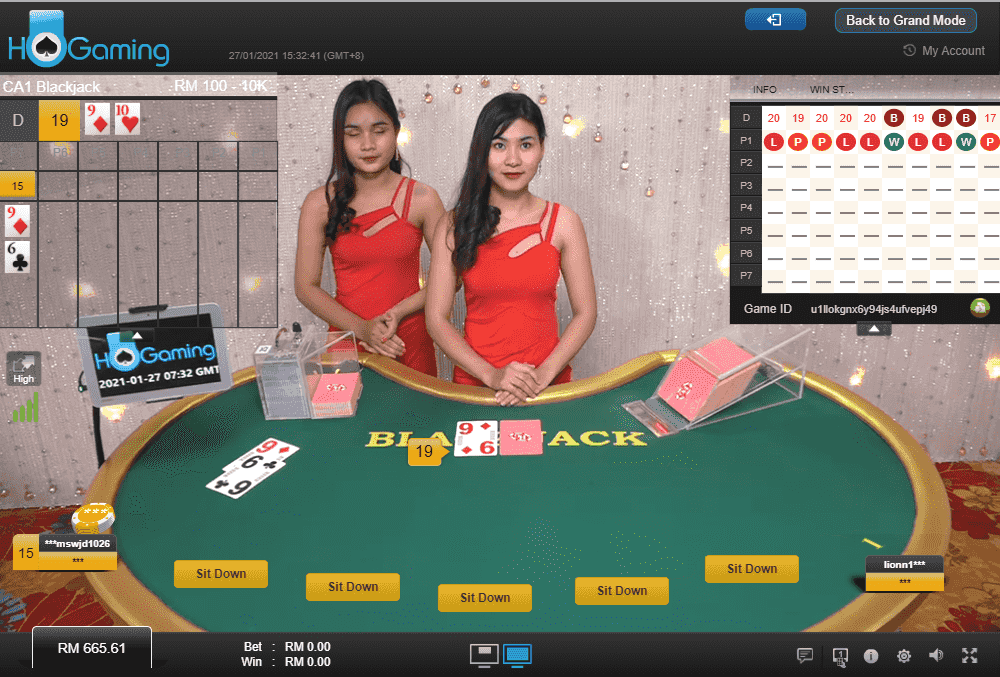 HO Gaming Live Casino - Blackjack (Classic)