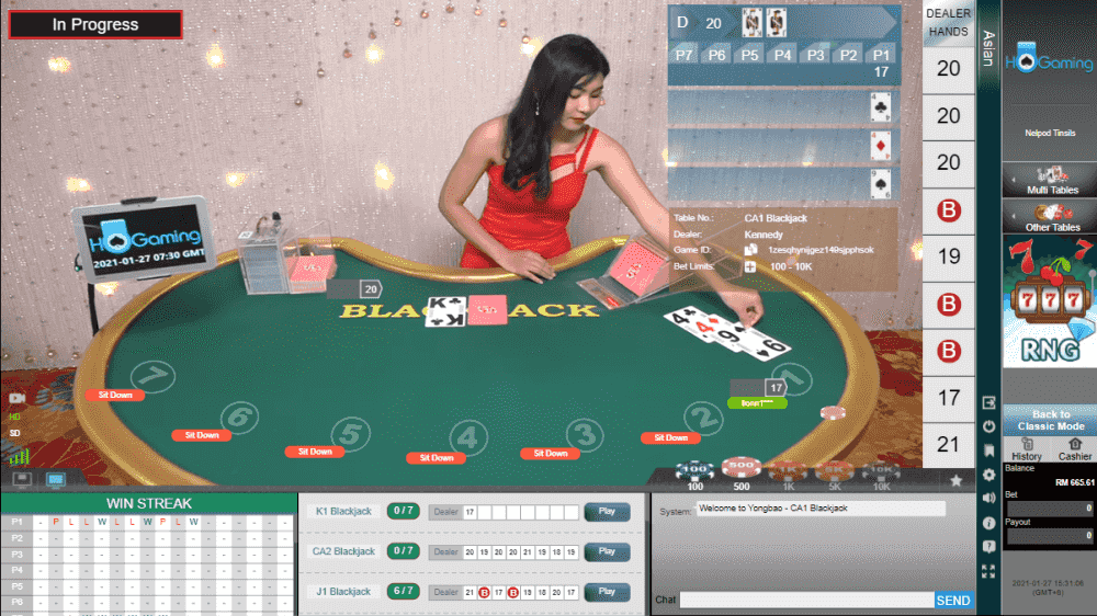 HO Gaming Live Casino - Blackjack (Grand)