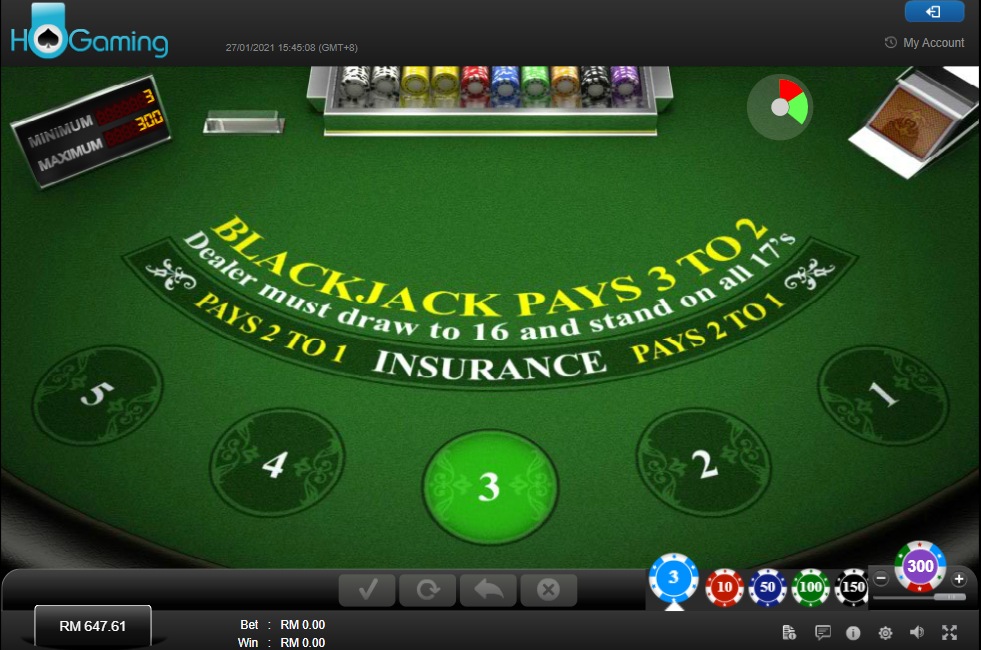 HO Gaming Live Casino - RNG Blackjack