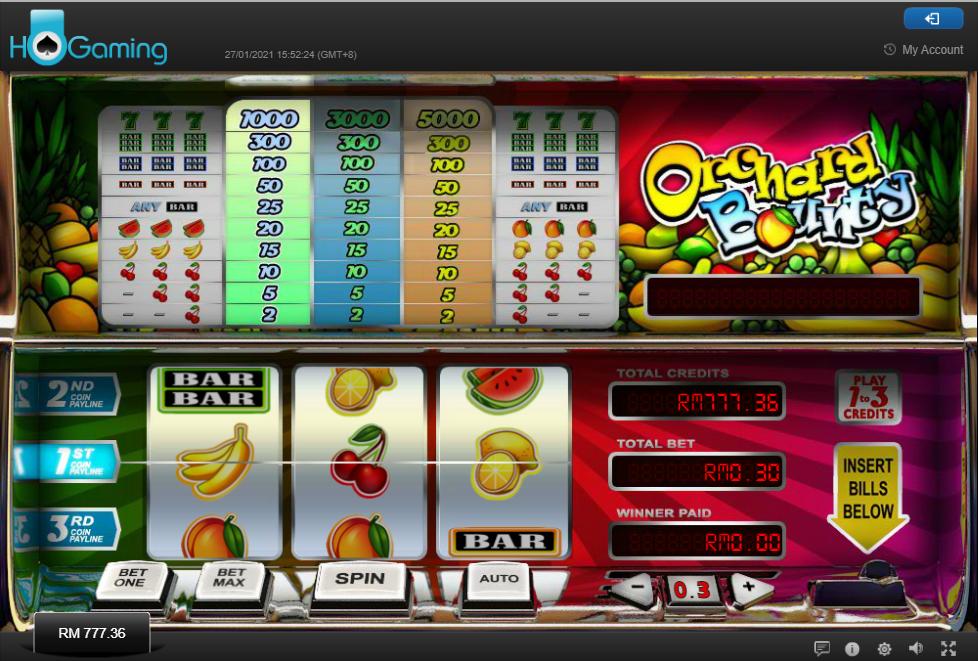 HO Gaming Live Casino - RNG Slots