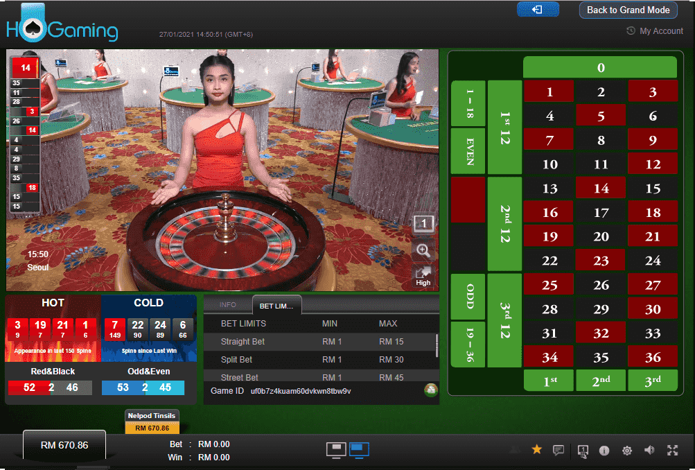 HO Gaming Live Casino Roulette Classic #1 Sports betting, Live Casino, Slots & Fishing Website in Asia