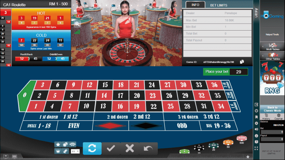 HO Gaming Live Casino - Roulette (Grand)