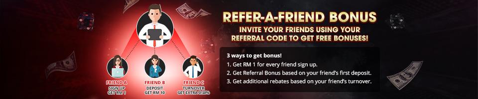Refer a Friend Bonus Promo Header