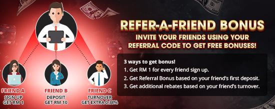 Refer a Friend Bonus Promo Tag