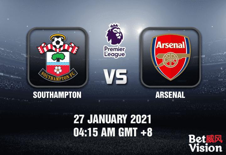 Southampton v Arsenal Prediction - EPL - 27 JAN 21
