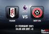 Fulham v Sheff Utd Match Prediction - EPL - 21 FEB 21