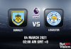 Burnley v Leicester Match Prediction - EPL - 04 MAR 2021