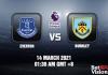 Everton v Burnley Match Prediction–EPL–14-MAR-21