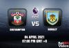 Southampton v Burnley Match Prediction EPL 04 APR 21