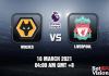 Wolves v Liverpool Match Prediction EPL 16 MAR 21