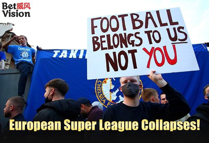 European Super League collapses