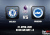 Chelsea v Brighton Match Prediction EPL 21 APR 21