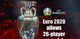 Euro 2020 allows 26-player squads