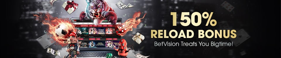 BetVision 150% Reload Bonus main