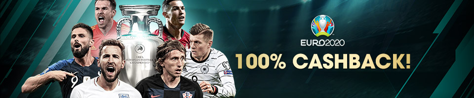 EURO 2020 100% Cashback Bonus