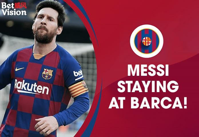 Messi staying at Barca