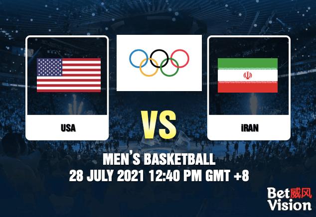 USA v Iran Prediction Olympics Mens Basketball 27 JUL 21