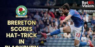Brereton scores hat-trick in Blackburn win