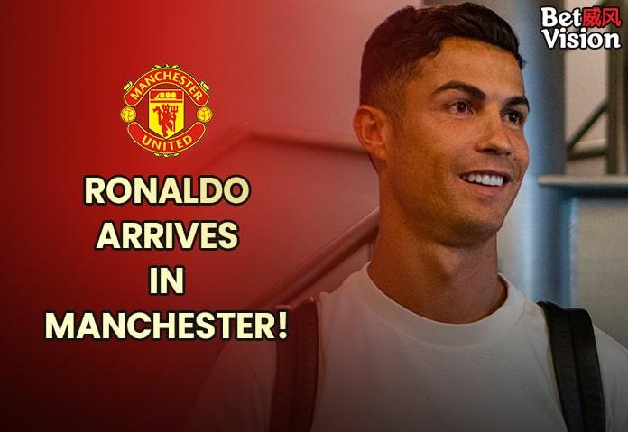 Ronaldo arrives in Manchester